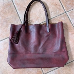 Free People All Day Tote Black Cherry